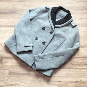 J. Crew Stadium Cloth wool jacket, gray, sz 10